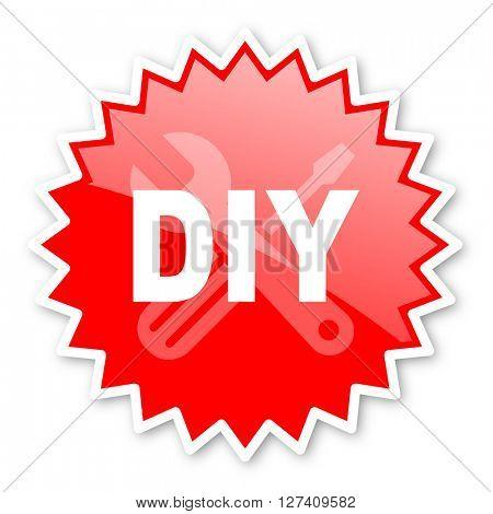 diy red tag, sticker, label, star, stamp, banner, advertising, badge, emblem, web icon