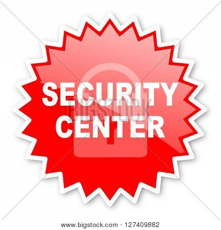 security center red tag, sticker, label, star, stamp, banner, advertising, badge, emblem, web icon