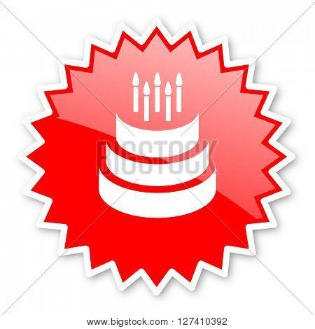 cake red tag, sticker, label, star, stamp, banner, advertising, badge, emblem, web icon
