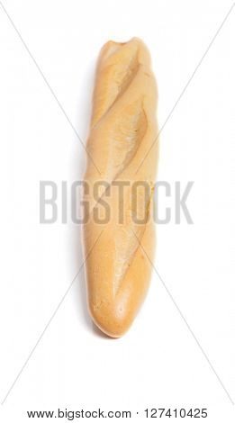 French baguette isolated on white