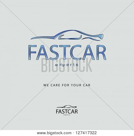modern, watercolor style ,  dynamic design car icon / logo