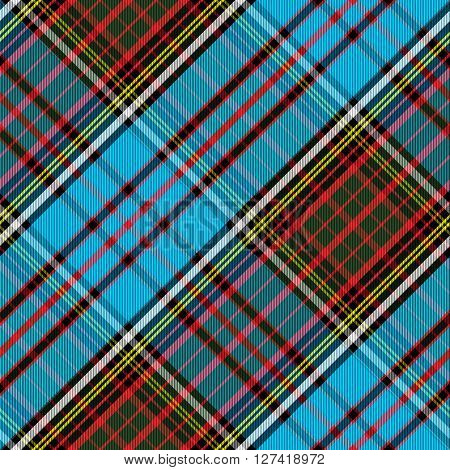 Tartan Clan Anderson diagonal seamless vector illustration