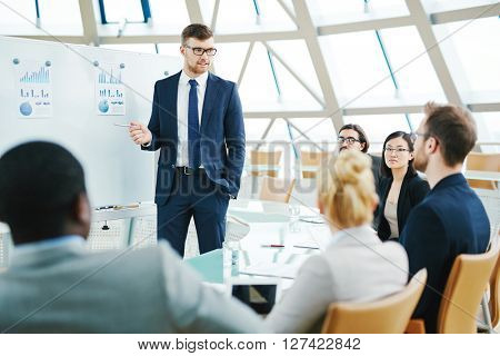 Manager by whiteboard