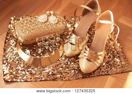 Golden. Womens Clothes And Accessories.  Shoes. Luxury Fashion  Jewelry. Expensive Pendant Close-up