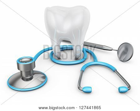Stethoscope And  Tooth