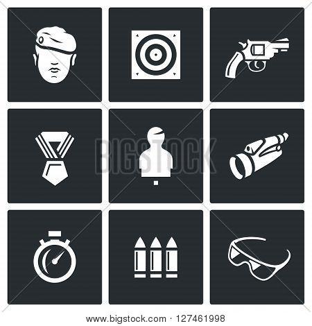 Warrior, Stationary Target, Gun, Order, Moving Target, Binocular, Stopwatch, Ammunition, Glasses.
