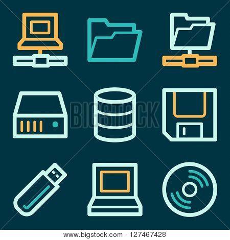 Drive storage web icons