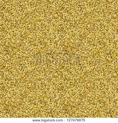 Gold Seamless Festive  Pattern. Bright  Abstract  Background With Golden Glitter Sparkle Squares . V