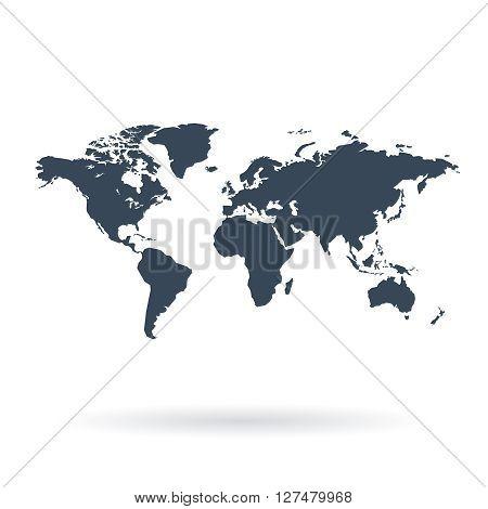 Gray similar world map. World map blank. World map vector. World map flat. World map template. World map object. World map eps. World map infographic. World map clean. World map art. World map card