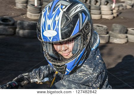 Child Loves To Race With A Quad
