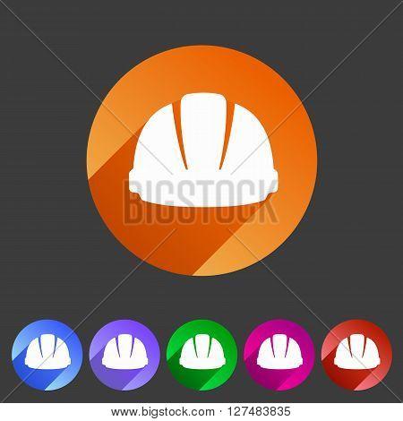 helmet constrction hard hat icon web sign symbol logo label set