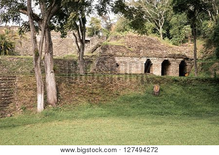 Some of the structures of Tonina archaeological in Ocosingo, Chiapas Mexico