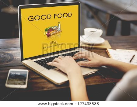 Good Food Good Mood Eating Nutrition Organic Concept