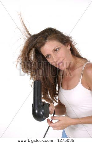 Beautiful Woman Drying Hair 1