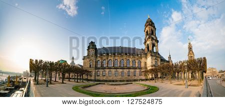 Justiz buildung in Sachsen, Dresden, Germany