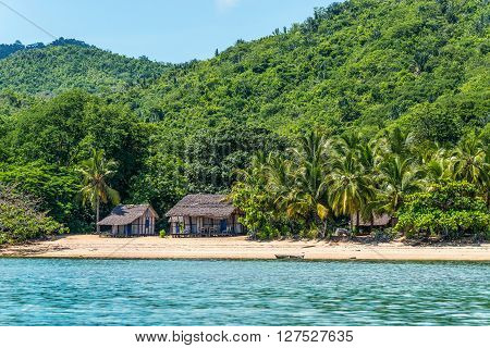 Lokobe Strict Reserve beach view in Nosy Be Madagascar