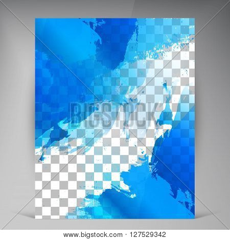 Vector Beautiful Blue Flyer. Template flyers design. Business brochure