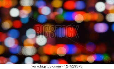 Decoration bokeh blurred out of focus background.
