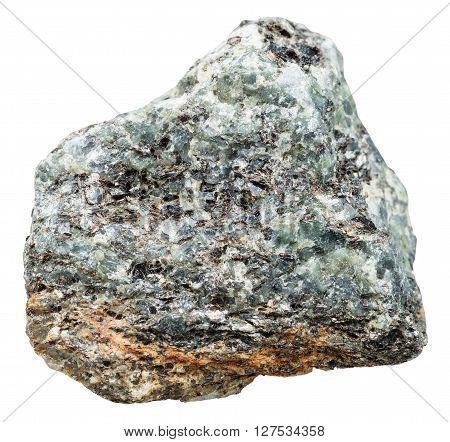 Stone With Nepheline And Biotite In Syenite