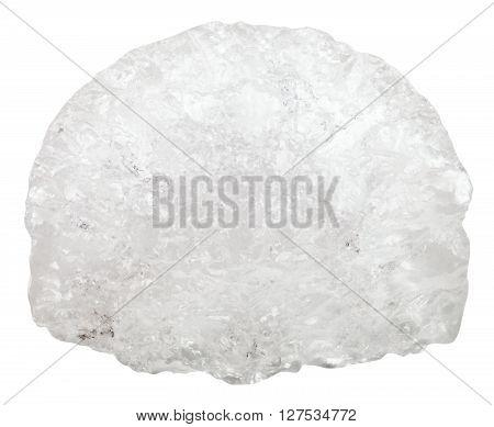 macro shooting of natural mineral stone - Ammonium aluminium sulfate (ammonium alum alum) crystalline stone isolated on white background poster