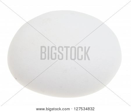 Tumbled Cacholong (white Opal) Gemstone Isolated