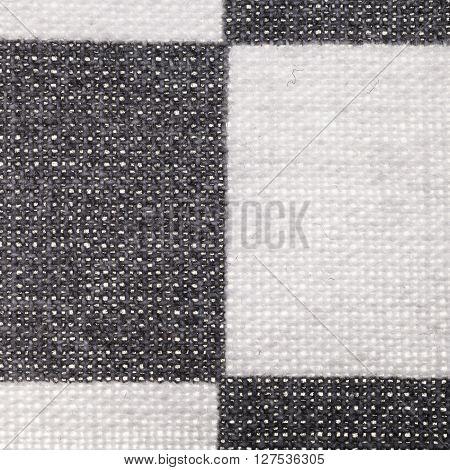 Square Textile Background - Plaid Cotton Fabric