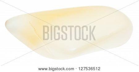 Polished Yellow Moonstone Gemstone Isolated