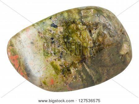 Polished Pebble Of Unakite (epidosite) Gemstone