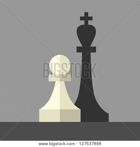 Pawn Casting King Shadow