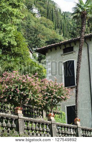 Varenna, Italy - September 4th 2015: part of Villa Monastero a tourist attraction in Varenna near Lake Como Italy.