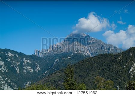 a beautiful view of Piani d'Erna (part of the Alps) near Lake Como in Italy
