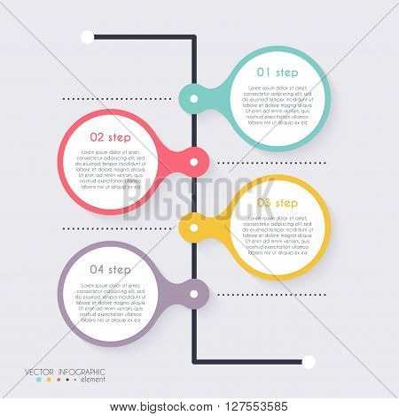 Vector Colorful Info Graphics For Your Business Presentations. Can Be Used For Info Graphics, Graphi