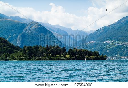 a view of Lake Como from the area near Colico a town in north Italy