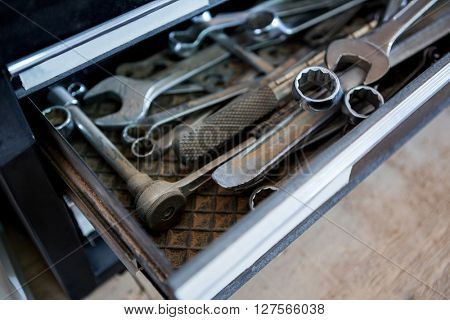 Image of different tools on a toolbox