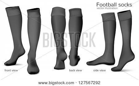 Football socks. Fully editable handmade mesh. Vector illustration.