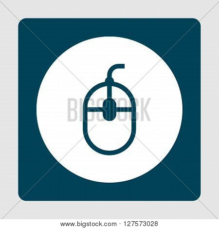Mouse Icon In Vector Format. Premium Quality Mouse Symbol. Web Graphic Mouse Sign On Blue Background