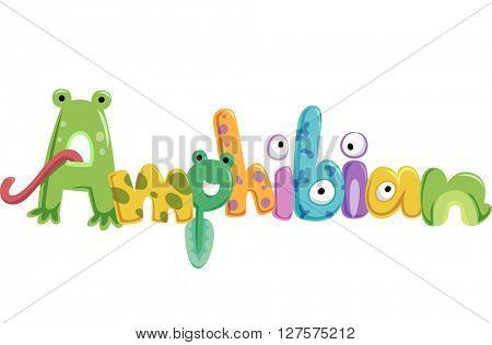 Typography Illustration Featuring Amphibians