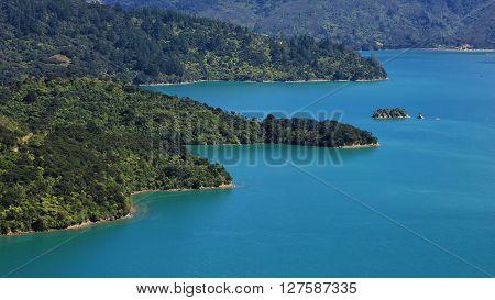 Beautiful landscape in New Zealand. Nature background.