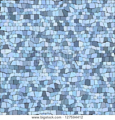 Abstract gray blue color tile bricks vector pattern
