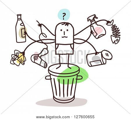 man who sorts the trash