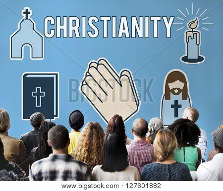 Christianity Church Cross Crucifix Faith Religion Concept