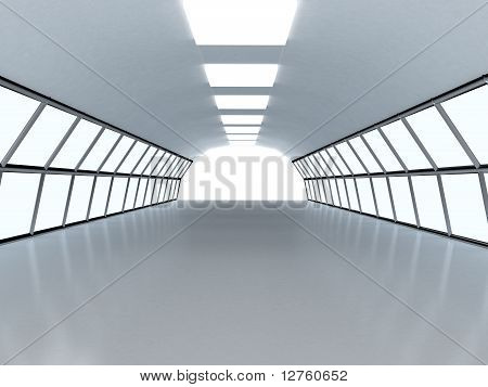 Tunnel With White Wall