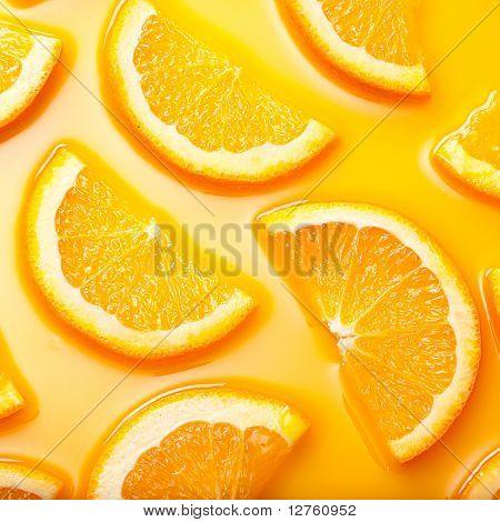 Hi res orange slices background