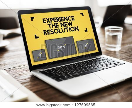 Resolution Digital Screen Ultra Technology Display Concept