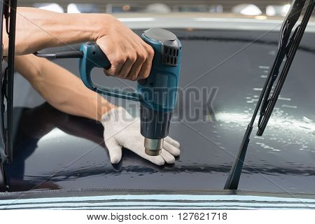 Car window tinting series : Heat shrinking window tinting