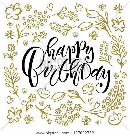 Happy Birthday Lettering Typography