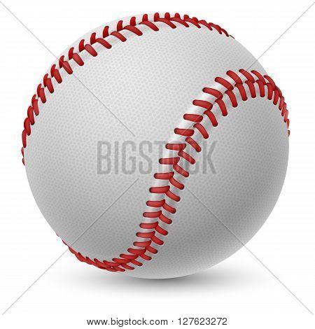 Realistic baseball on white background for design