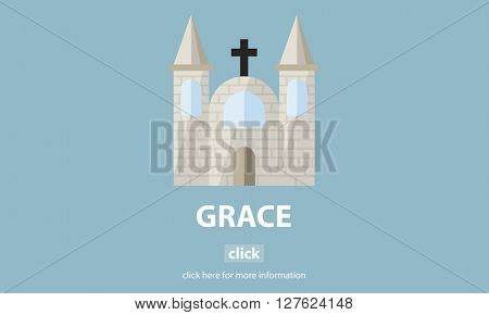 Grace Hope Poise Spiritual Worship Faith God Concept poster