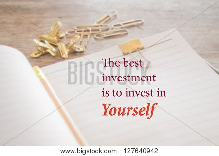 The best investment is to invest in yourself stock photo