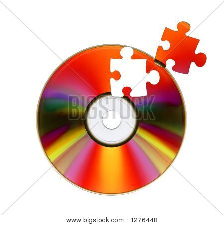 Cd-Rom And Puzzle.